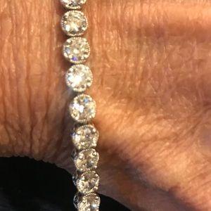 Jewelry - SS Cubic zirconia Tennis Bracelet 71/2 inch long